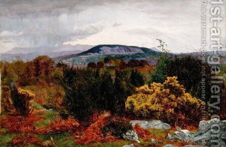 Spring, Arnside Knot from Warton Crag, c.1863 by Daniel Alexander Williamson - Reproduction Oil Painting