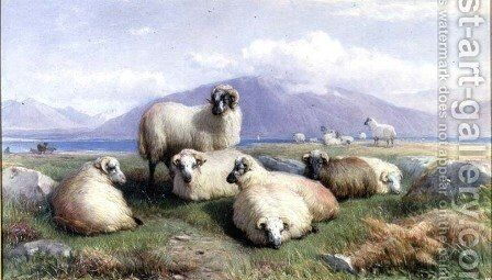 In the Heart of the Highlands by Henry Brittan Willis, R.W.S. - Reproduction Oil Painting