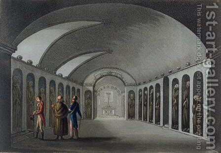 Curious Cemetery under the Capuchin Monastery, near Syracuse, engraved by Joseph Constantine Stadler (fl.1780-1812) pub. 1801 by (after) Willyams, Cooper - Reproduction Oil Painting