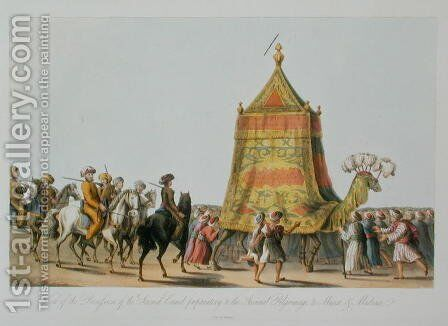 View of the Procession of the Sacred Camel preparatory to the Annual Pilgrimage to Mecca and Medina, pub. 1822 by (after) Willyams, Cooper - Reproduction Oil Painting
