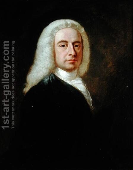 Portrait of Judge Christopher Robinson by Benjamin Wilson - Reproduction Oil Painting