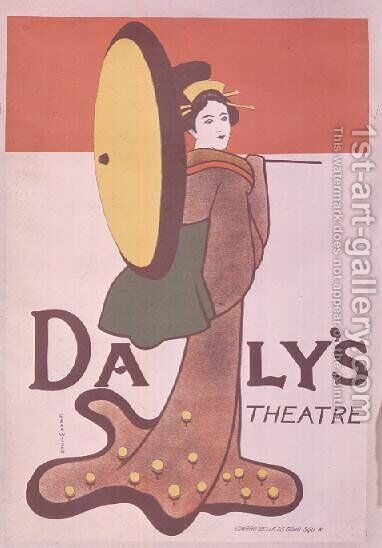 Poster advertising Dalys Theatre by Edgar Wilson - Reproduction Oil Painting