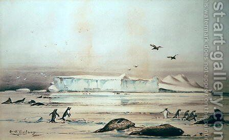 Antarctic Landscape by Edward Adrian Wilson - Reproduction Oil Painting