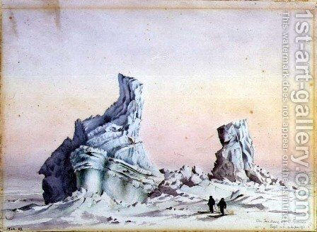 An Iceberg off Cape Evans, 1-11th September, 1911 by Edward Adrian Wilson - Reproduction Oil Painting