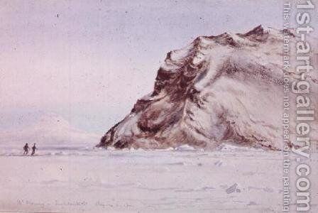 Mount Discovery, Antarctica, 1910 by Edward Adrian Wilson - Reproduction Oil Painting