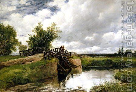 Black Bridge on the Ouse, 1891 by Edmund Morison Wimperis - Reproduction Oil Painting