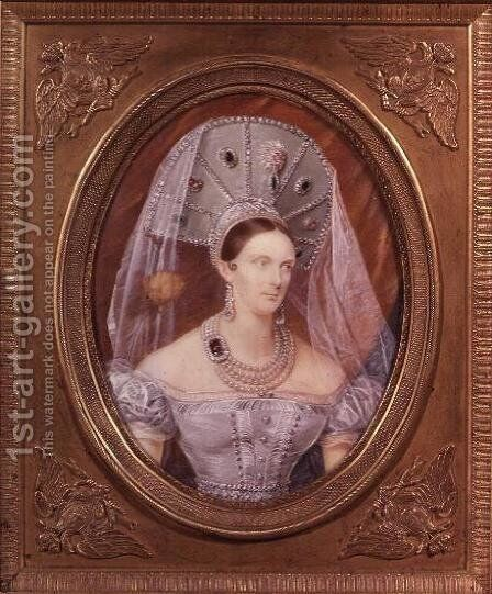 Empress Alexandra Feodorovna by Ivan Winberg - Reproduction Oil Painting