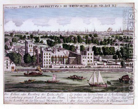 View of Lambeth Palace, c.1750 by Jean Benoit Winckler - Reproduction Oil Painting