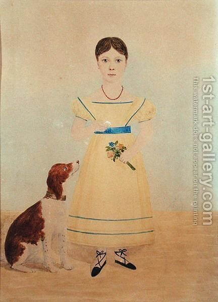 Portrait of Miss Maria Wright by C. W. Wing - Reproduction Oil Painting
