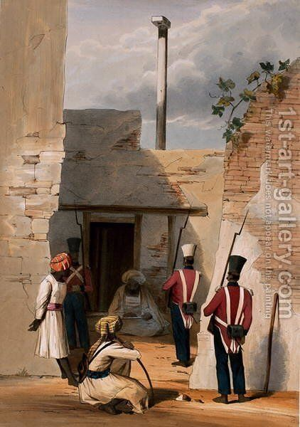The Prison of Hadjee Khan Kakus - Cabool, from The Storming of Ghuznee and Khelat by W. Taylor, 1839 by (after) Wingate, Lieutenant Thomas - Reproduction Oil Painting