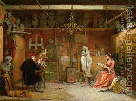The Artists Studio by James Digman Wingfield - Reproduction Oil Painting