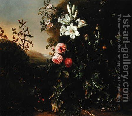 Still Life, c.1670 by Mathias Withoos - Reproduction Oil Painting