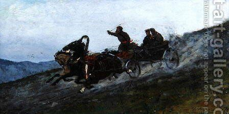 Siberian Troika, Urals, 1876 by Stanislaw Witkiewicz - Reproduction Oil Painting