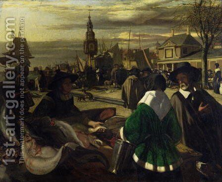 Market in the Hague, c.1660 by Emanuel de Witte - Reproduction Oil Painting