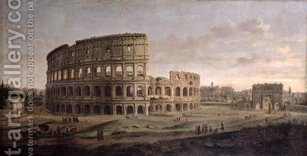 The Colosseum by Caspar Andriaans Van Wittel - Reproduction Oil Painting