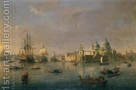 The Bay toward the Grand Canal and the Giudecca in Venice by Caspar Andriaans Van Wittel - Reproduction Oil Painting