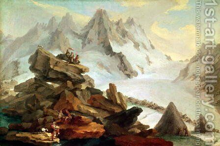 The Mountains at Lauteraar, 1776 by Caspar Wolf - Reproduction Oil Painting