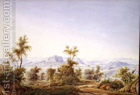 View of Athens with the Parthenon in the Distance by Johan Wolfensberger - Reproduction Oil Painting