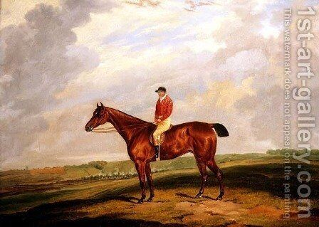 Racehorse with Jockey Up by Dean Wolstenholme, Jr - Reproduction Oil Painting