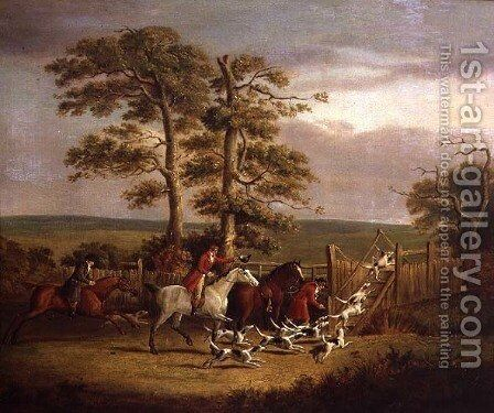 Hunting Scene by Dean Wolstenholme, Jr - Reproduction Oil Painting