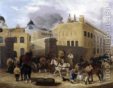 Barclay and Perkins Brewery, Park Street, Southwark by Dean Wolstenholme, Jr - Reproduction Oil Painting