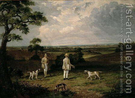 Partridge Shooting by Dean Wolstenholme, Snr. - Reproduction Oil Painting