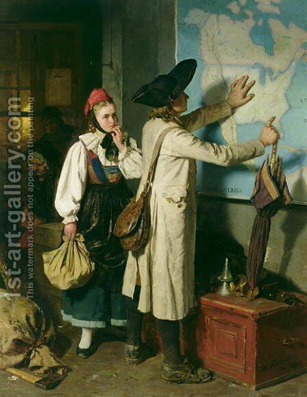 The Emigrants by Berthold Woltze - Reproduction Oil Painting