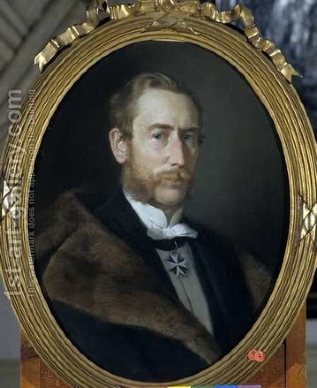 Hans Albert von der Gabelentz-Linsingen by Berthold Woltze - Reproduction Oil Painting