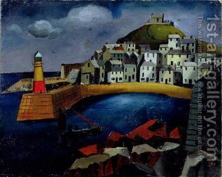 The Harbour, 1926 by Christopher Wood - Reproduction Oil Painting