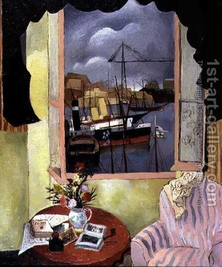 Window at Marseilles, 1927 by Christopher Wood - Reproduction Oil Painting