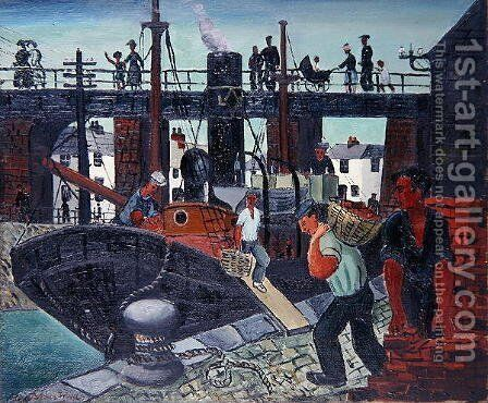 Loading the Boats, St. Ives, 1926 by Christopher Wood - Reproduction Oil Painting