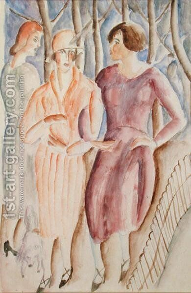 French Girls, c.1926 by Christopher Wood - Reproduction Oil Painting