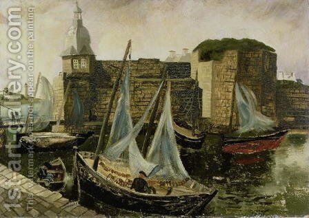 La Ville-Close, Concarneau, Brittany, 1930 by Christopher Wood - Reproduction Oil Painting