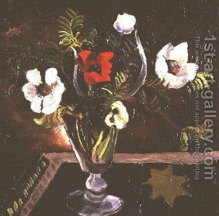 Still Life of Flowers by Christopher Wood - Reproduction Oil Painting