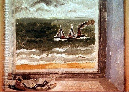 From a Cornish Window, 1928 by Christopher Wood - Reproduction Oil Painting