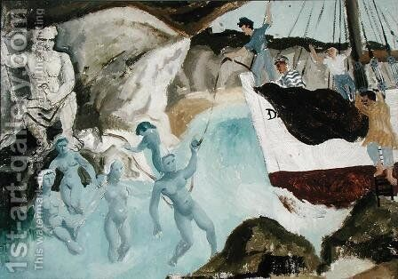 Mermaids, 1929 by Christopher Wood - Reproduction Oil Painting