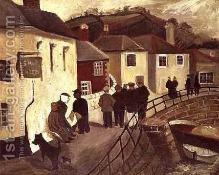 The Ship Hotel, Mousehole, Cornwall, 1928-9 by Christopher Wood - Reproduction Oil Painting
