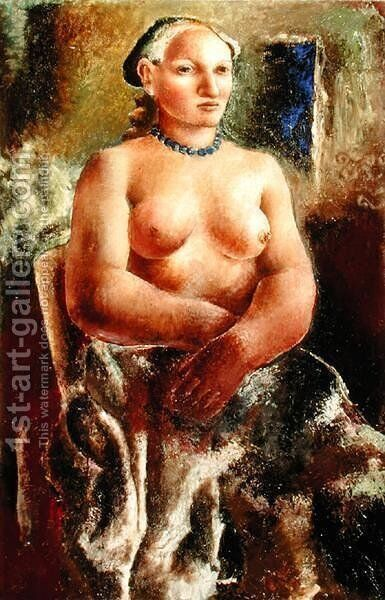 The Blue Necklace, 1926 by Christopher Wood - Reproduction Oil Painting