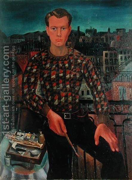 Self Portrait, 1927 by Christopher Wood - Reproduction Oil Painting