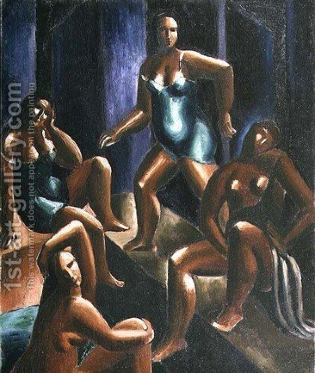 Bathers by Christopher Wood - Reproduction Oil Painting