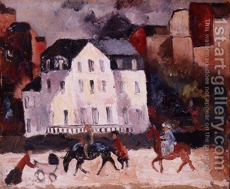 Horses in Paris, 1924 by Christopher Wood - Reproduction Oil Painting