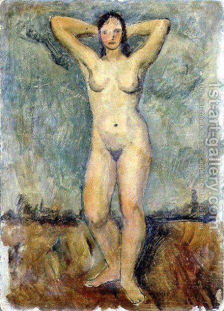Standing Nude by Christopher Wood - Reproduction Oil Painting