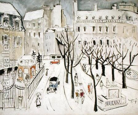 Paris Snowscene, 1926 by Christopher Wood - Reproduction Oil Painting