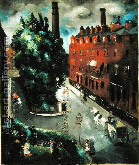 A Chelsea Square, 1927 by Christopher Wood - Reproduction Oil Painting