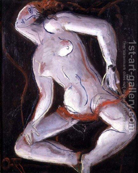 Reclining Nude 2 by Christopher Wood - Reproduction Oil Painting