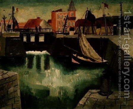 Harbour, Dieppe, 1929 by Christopher Wood - Reproduction Oil Painting