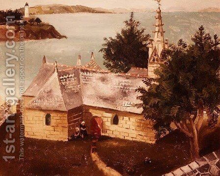 Church at La Tremouille, Trebout, 1930 by Christopher Wood - Reproduction Oil Painting