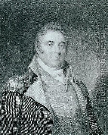 Richard Dale (1756-1826), engraved by Richard W. Dodson (1812-67) after a copy of the original painting by James Barton Longacre (1794-1869) by (after) Wood, Joseph - Reproduction Oil Painting