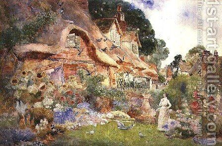 Watching the Doves, 1905 by David Woodlock - Reproduction Oil Painting