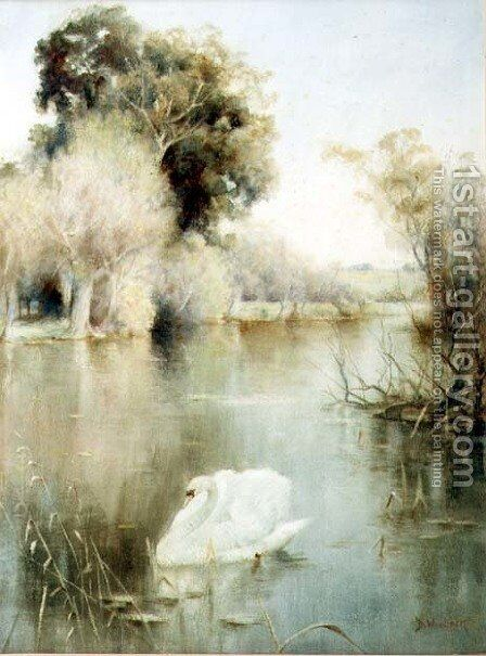 The Monarch of the Lake by David Woodlock - Reproduction Oil Painting